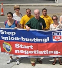 Rite Aid workers, protesting the chain stores union busting. Courtesy AFL-CIO