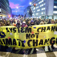 Street Protests in Copenhagen.  Source: http://www.itsgettinghotinhere.org/category/climate-justice/