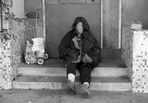 A Homeless Woman in San Francisco. Credit: Franco Folini via Flickr