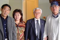 Yong Kim, Park Kum-Nyo, Col. Kim Bong-Keon, Yonhgsohk Choe in Los Angeles. Source: Alina Potts