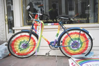 Pride Bike, part of a Queer Youth parade in Burlington, VT on May 14, 2005.