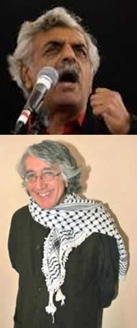 Top: Tariq Ali. Bottom: David Barsamian