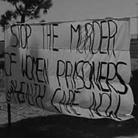 Stop the murder of women prisoners sign